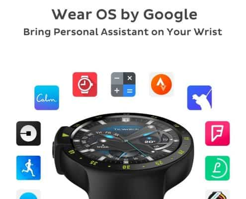 Ticwatch S Smartwatch-Knight,1.4 inch OLED Display, Android Wear