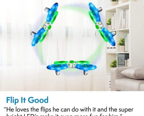 Force1 Bright LED Quadcopter Drone