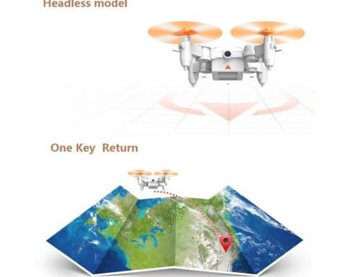 Rabing Mini Foldable RC Drone FPV VR Wifi RC