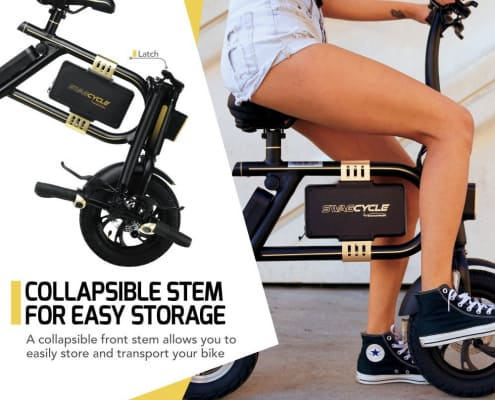 SWAGTRON SwagCycle E-Bike – Folding Electric Bicycle with 10 Mile Range