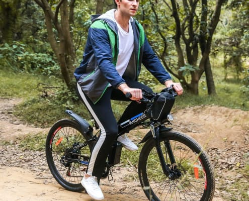 ANCHEER Folding Electric Mountain Bike with 26 Inch Wheel